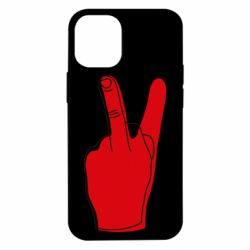 Чехол для iPhone 12 mini Peace and middle finger