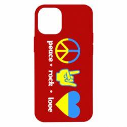Чехол для iPhone 12 mini Peace, Rock, Love