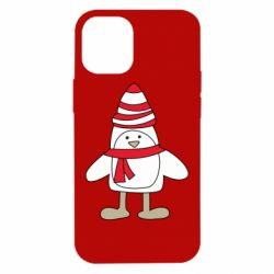 Чехол для iPhone 12 mini Penguin in the hat and scarf