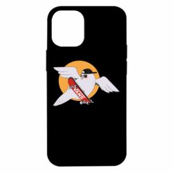 Чохол для iPhone 12 mini Pigeon with skateboard