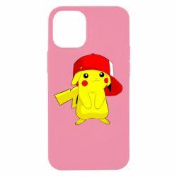 Чехол для iPhone 12 mini Pikachu in a cap