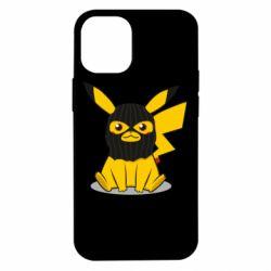 Чехол для iPhone 12 mini Pikachu in balaclava