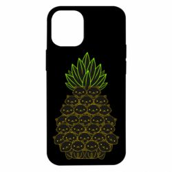 Чехол для iPhone 12 mini Pineapple cat