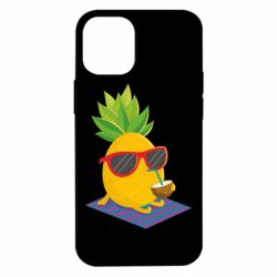 Чехол для iPhone 12 mini Pineapple with coconut