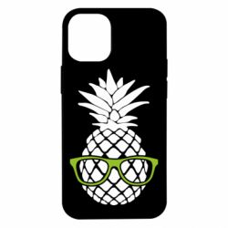 Чехол для iPhone 12 mini Pineapple with glasses