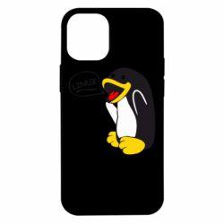 Чехол для iPhone 12 mini Пингвин Линукс