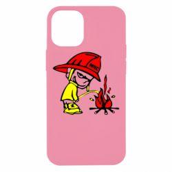 Чехол для iPhone 12 mini Писающий хулиган-пожарный