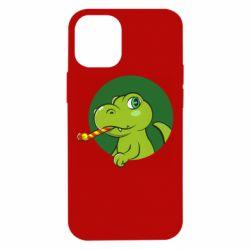 Чохол для iPhone 12 mini Святковий динозавр