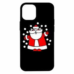 Чохол для iPhone 12 mini Прикольний дід мороз
