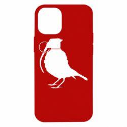 Чехол для iPhone 12 mini Птичка с гранатой