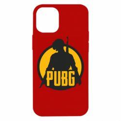 Чехол для iPhone 12 mini PUBG logo and game hero
