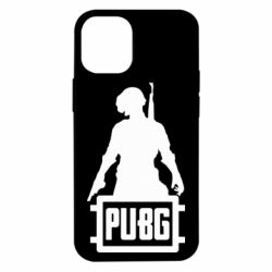 Чехол для iPhone 12 mini PUBG logo and hero