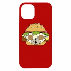 Чохол для iPhone 12 mini Pug Hamburger