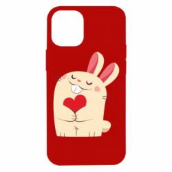 Чехол для iPhone 12 mini Rabbit with heart