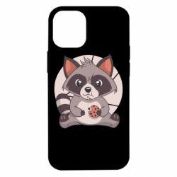 Чохол для iPhone 12 mini Raccoon with cookies