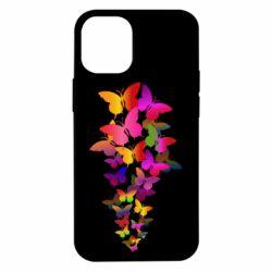 Чохол для iPhone 12 mini Rainbow butterflies