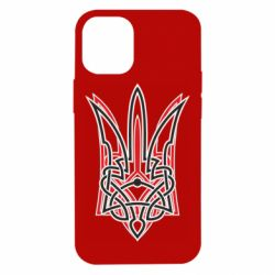 Чехол для iPhone 12 mini Red and black coat of arms of Ukraine