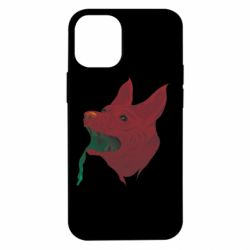 Чехол для iPhone 12 mini Red zombie dog