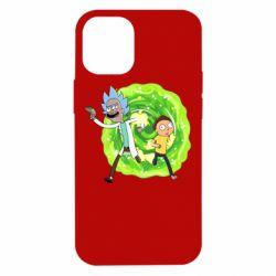 Чохол для iPhone 12 mini Rick and Morty art