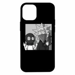 Чехол для iPhone 12 mini Rick and Morty Bandits