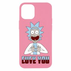 Чохол для iPhone 12 mini Rick and Morty fack and love you