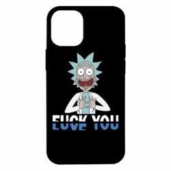 Чехол для iPhone 12 mini Rick fuck you