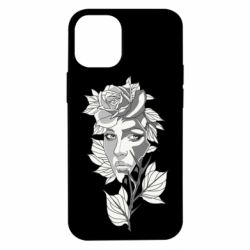 Чохол для iPhone 12 mini Rose with a girl's face