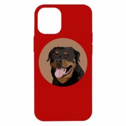 Чехол для iPhone 12 mini Rottweiler vector