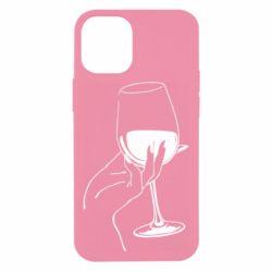 Чехол для iPhone 12 mini Рука с бокалом