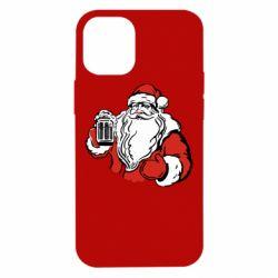Чехол для iPhone 12 mini Santa Claus with beer