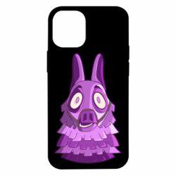 Чохол для iPhone 12 mini Scared llama from fortnite