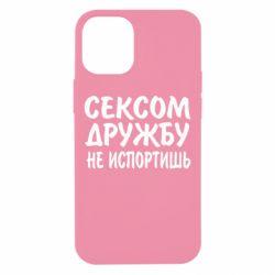 Чехол для iPhone 12 mini СЕКСОМ ДРУЖБУ НЕ ИСПОРТИШЬ