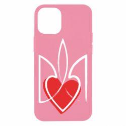 Чехол для iPhone 12 mini Серце з гербом