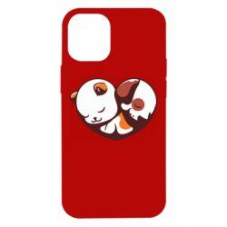 Чохол для iPhone 12 mini Сердечко. Котик и собачка