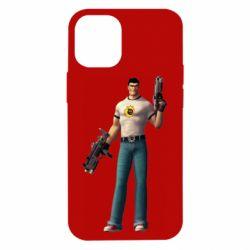 Чехол для iPhone 12 mini Serious Sam with guns