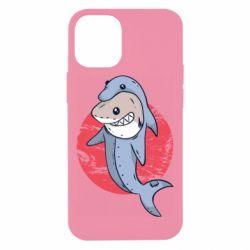 Чехол для iPhone 12 mini Shark or dolphin