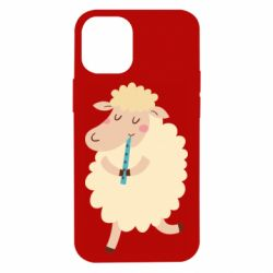 Чехол для iPhone 12 mini Sheep with flute