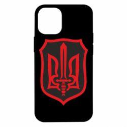 Чехол для iPhone 12 mini Shield with the emblem of Ukraine and the sword