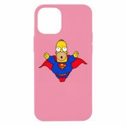 Чехол для iPhone 12 mini Simpson superman