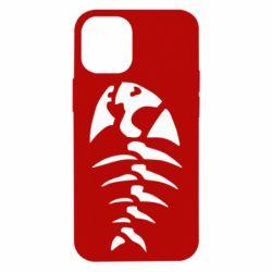 Чехол для iPhone 12 mini скелет рыбки