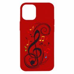 Чехол для iPhone 12 mini Скрипичный ключ