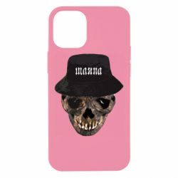Чехол для iPhone 12 mini Skull in hat and text