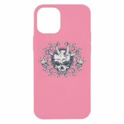 Чохол для iPhone 12 mini Skull with horns and patterns