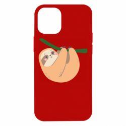 Чехол для iPhone 12 mini Sloth on a branch