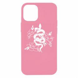 Чохол для iPhone 12 mini Snake with flowers