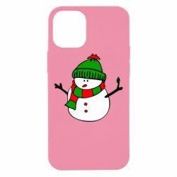 Чехол для iPhone 12 mini Снеговик