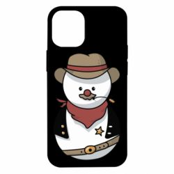 Чехол для iPhone 12 mini Snowman Cowboy
