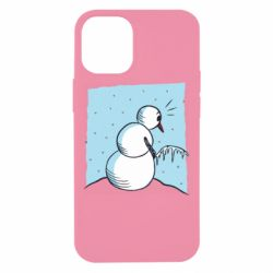 Чехол для iPhone 12 mini Snowman Peeing