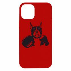 Чохол для iPhone 12 mini Собака в боксерських рукавичках