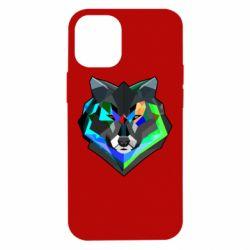 Чехол для iPhone 12 mini Сolorful wolf